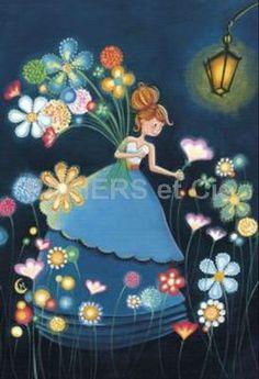 Carte rectangulaire Marie Cardouat  Le jardin la nuit
