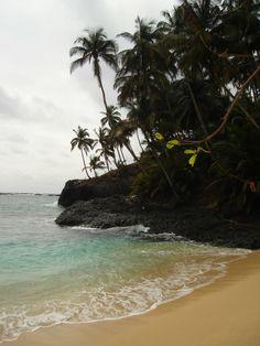 Praia Piscina, São Tomé e Principé.