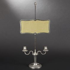 Perfect for a French old world baby nursery.....19th century Silver candlestick with adjustable screen by BOIN TABURET