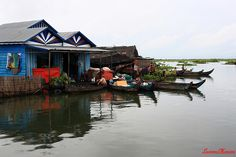 Floating village, Tonle Sap river. This is an amazing place to visit; highly recommended. #cambodia #travel