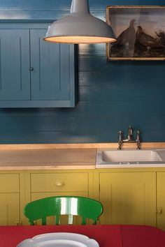 British Standard Cupboards Painted Primary Colours - Kitchen Design Ideas (houseandgarden.co.uk)