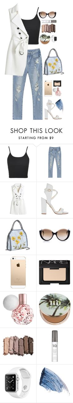 """Crop Top"" by angiegdurant on Polyvore featuring Topshop, White House Black Market, Paul Andrew, STELLA McCARTNEY, Cutler and Gross, NARS Cosmetics, Urban Decay and Sisley - Paris"