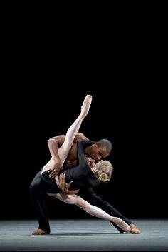Melissa Hamilton and Eric Underwood in Infra, Royal Ballet - Photo Bill Cooper