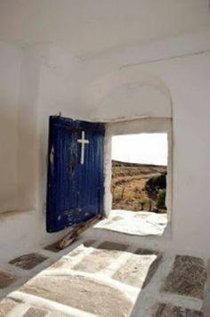 Paros, Santorini, Greek Isles, Belle Villa, Greece Islands, Greece Travel, Island Life, Places Around The World, Entrance