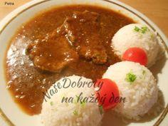 Recept Roštěnky s rýží. Slovak Recipes, Czech Recipes, Ethnic Recipes, Polish Recipes, Food 52, Chana Masala, Natural Remedies, I Foods, Meal Planning
