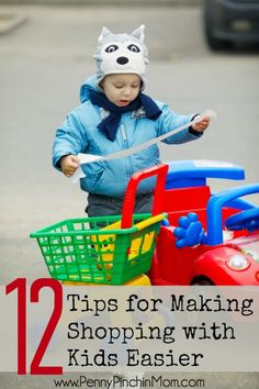 Shopping with kids is a challenge. We have TWELVE great tips to make this chore much, much easier!