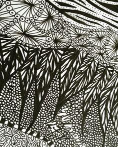 Patterned doodle.