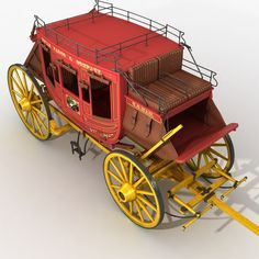 Toy Wagon, Autodesk 3ds Max, Miniature Houses, Wheelbarrow, Old West, Coaches, Stage, Classic, American Frontier