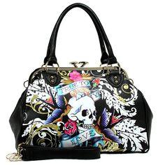 Rockabilly Tattoo Handbag $34.99 http://stores.ebay.com/La-Catrina-Accessories