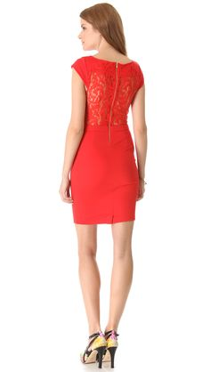 Madison Marcus Limelight Lace Back Dress