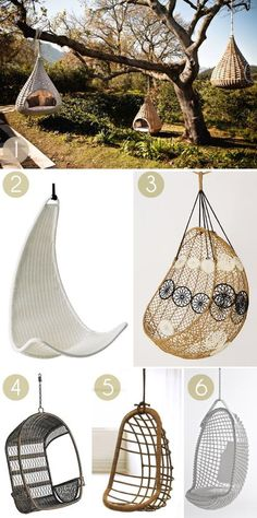 Halcyon Hanging Chairs To Bring Perfect Harmony For You To Rest - Bored Art Hammock Chair, Swinging Chair, Outdoor Hanging Chair, Outdoor Swings, Hammock Swing, Hanging Basket, Outdoor Dining, My New Room, My Room