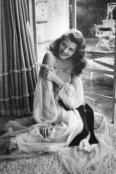 Rita Hayworth on the set of Gilda, 1946.