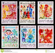 Postage stamp Editorial Stock Photo