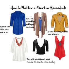 how to flatter a short or wide neck by imogenl on Polyvore