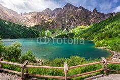 Crystal clear pond in the middle of the mountains #91165160 - obrazy na płótnie, Fototapety na wymiar, Obrazy na ścianę