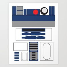 Star Wars - R2D2 Art Print by Adrian Mentus | Society6