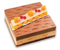 Chocolate mango garden cake. Saint Honore Cake Shop.