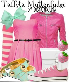 Disney Bound - Taffyta Muttonfudge (Wreck-it-Ralph) I Love Fashion, Fashion Looks, Womens Fashion, Milk Fashion, Muttonfudge, Disney Inspired Fashion, Disney Fashion, Disney Bound Outfits, Casual Cosplay