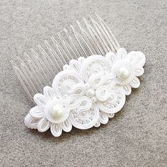 Soutache SUTASZ hair comb WEDDING beautiful by DecomamaPoland