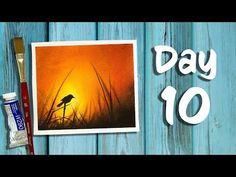 Day 10 of 21 Days of Summer | How to paint a Bird silhouette - YouTube