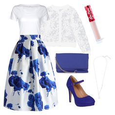 """Blue Rose Skirt"" by izzi-c-b on Polyvore featuring Simplex Apparel, Journee Collection, Chicwish, Lime Crime and Express"