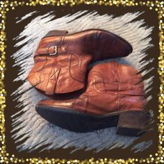 FRANCO SARTOwestern ankle boots Preowned in very good condition Franco Sarto Shoes Ankle Boots & Booties