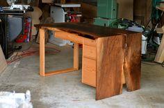 "organic   modernlive edge walnutreclaimed douglas fir dovetailed, soft-close drawers *one-off design*53"" x 30"" x 30"""