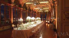 ALMA PROJECT @ Villa Corsini di Mezzomonte - Galleria Pandolfo Sacchi - Dinner lighting - pinspots lucciole - uplights amber 009