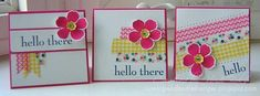 FM126 Quick Note Cards with Washi by hlw966 - Cards and Paper Crafts at Splitcoaststampers