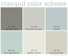 Full home color scheme – calming colors are so popular right now in home decor... - Best Home Decor