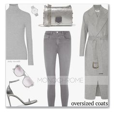 """""""Chic Oversized Coats: 28/02/17"""" by pinky-chocolatte ❤ liked on Polyvore featuring James Perse, Acne Studios, L'Agence, Jimmy Choo, Yves Saint Laurent, Le Specs and Larsson & Jennings"""