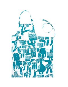 Designed by Mirocomachiko Material: & Size: x Silkscreen printed with petrol green color, 2 nice big pockets in the front of the apron. Green Apron, Silk Screen Printing, Green Colors, Finland, Reusable Tote Bags, Kitchen, Prints, Design, Screen Printing Press