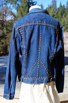 Hand Embellished Vintage Denim Jacket mSWVX