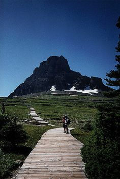 boardwalk,Glacier National Park.