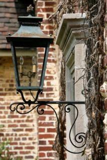 Exterior lighting vintage wrought iron mount