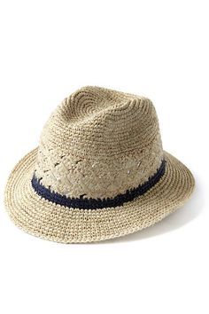 Our classic short brimmed fedora features a band of contrasting color and crocheted venting. Pair it with our matching Valencia tote or Teresa clutch to complete the look. Crocheted fedora with contrast stripe & cotton sweatband Brim x crown x cir. Straw Fedora, Fedora Hat, Raffia Hat, Fashion Project, Beachwear For Women, Summer Hats, Ethical Fashion, Sun Hats, Hats For Men