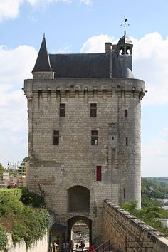 The Clock Tower of the Castle of Chinon ~ located on the banks of River Vienne in Chinon, France
