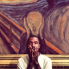 "Frank Ocean in Edvard Munch's ""The Scream"" 