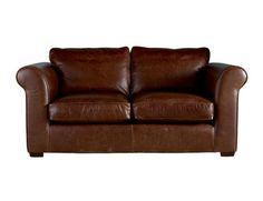 Burgess Leather                                    2 Seater Sofa- Laura Ashley