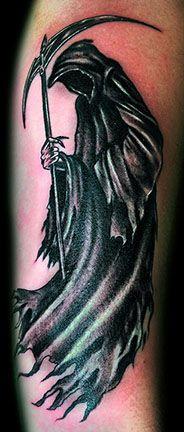 Grim Reaper tattoo - Robert Kidd