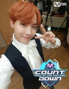 J-Hope ❤ BTS Mnet Mcountdown Selfie #BTS #방탄소년단