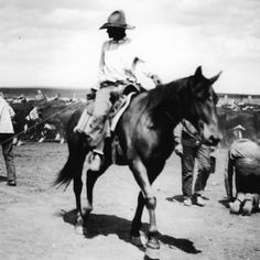 Tom Blasingame, b. Feb12, 1898, in Waxahachie, Texas, was made for a life on the range. Two days after Christmas, in 1989, Blasingame stepped off his horse, stretched out in the Texas grass, crossed both arms over his chest, and died in perfect peace. He was buried in the JA Ranch cemetery where his wife Eleanor now lays beside him. At the time of his death he was considered the oldest cowboy in Texas, having committed 73 of his 91 years to ranching.