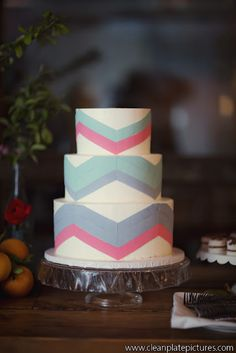 lael cakes - chevron wedding cake