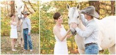 Spring Engagement Session On A Horse Farm in Lexington, KY. Kentucky Wedding Photographer, Lexington Kentucky Wedding Photographer, Farm Engagement, Cowboy Engagement, Horse Farm, Romantic, Sunset, White Horse, Farm. Kevin and Anna Photography www.kevinandannaweddings.com