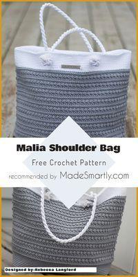 Malia Shoulder Bag - Free Crochet Pattern #crochetpattern #crochetbag #freecrochetpatterns #yarns #crochetaddict