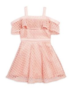 Bardot Junior Infant Girls' Lace Mesh Ruffle Dress - Sizes 9-24 Months, 100% Exclusive | Bloomingdales's
