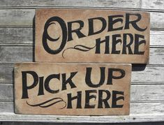 Order Here Sign original hand painted wall by ZekesAntiqueSigns
