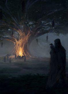 Gathering at Odin's Tree by Mateusz Katzig