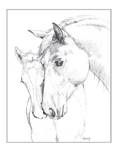 Horse Card  Love Yer Mama folded notecard by by gigglesnortsociety, $20.00
