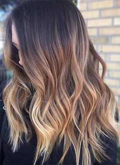 Awesome Summer Balayage Waves Highlights low lights 2018